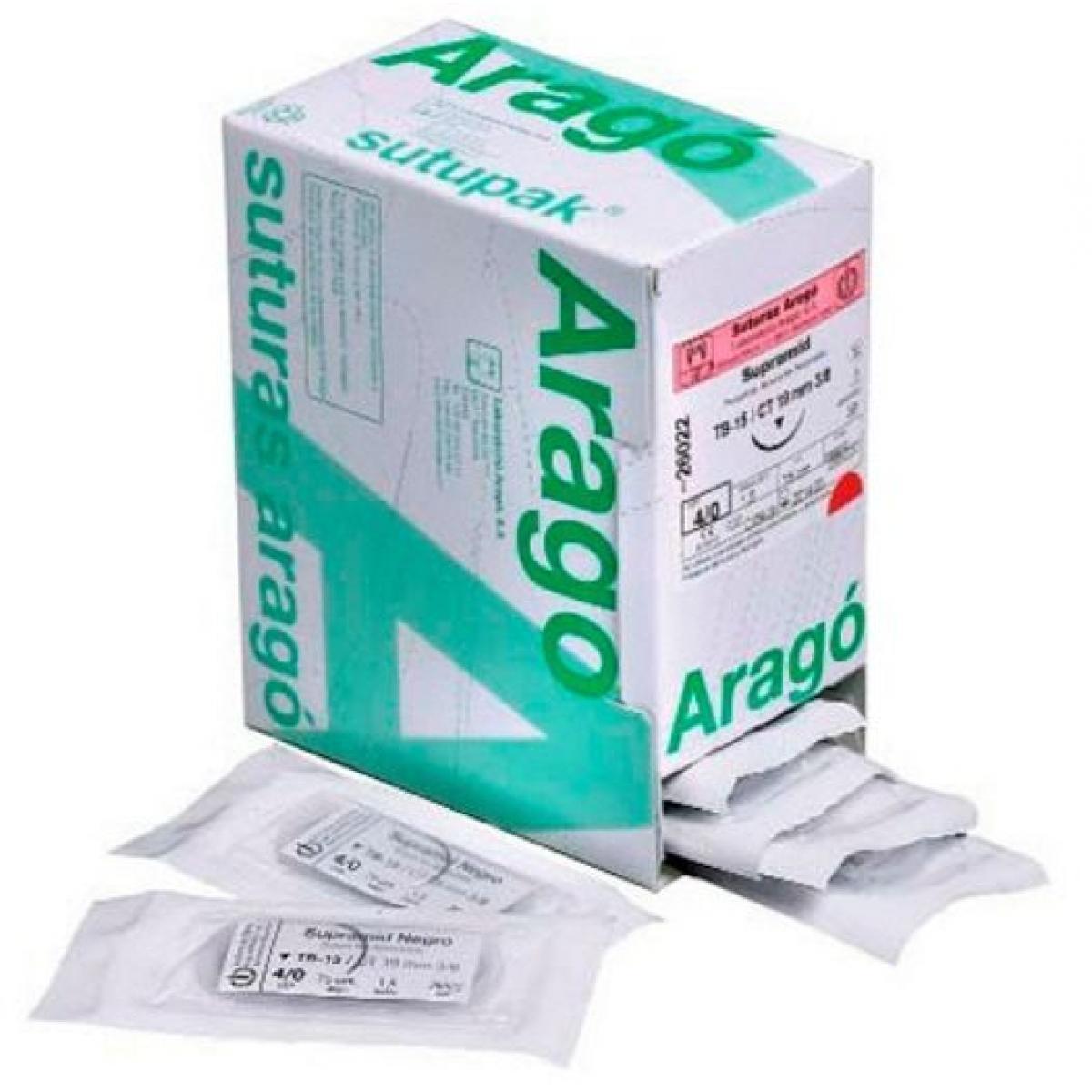 SUTURA ARAGO SUPRAMID NEGRO 4 0 TC12 36U -