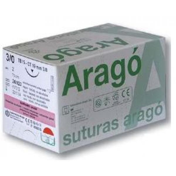 SUTURA ARAGO SUPRAMID NEGRO 5 0 TB 12 36U -