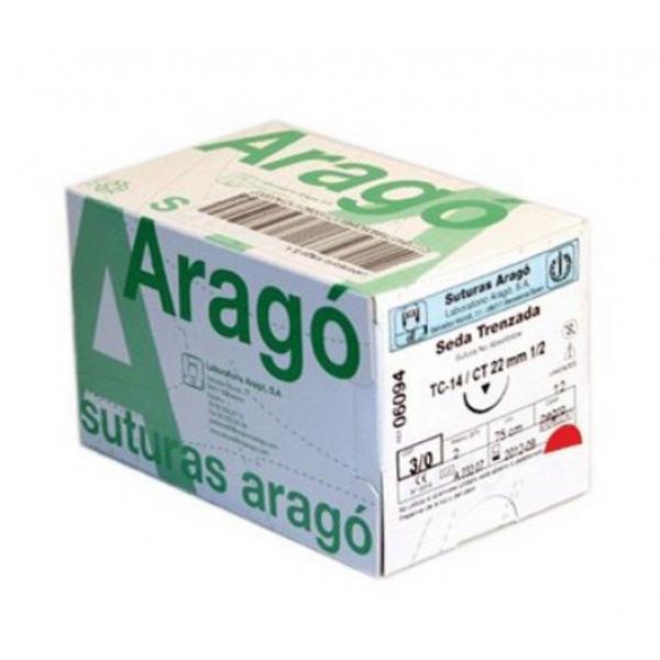 SUTURA ARAGO SEDA 3 0 TC 10 -