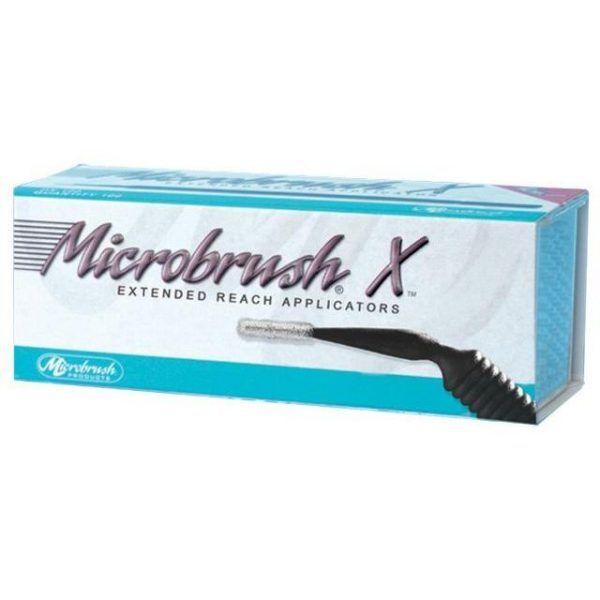 MICROBRUSH X APLICAD 100U LARGO CANALES CON DISPENSADOR -