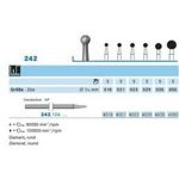 242 104 023 FRESA DIAMANTE CIRUGIA PM CX5 KOMET -