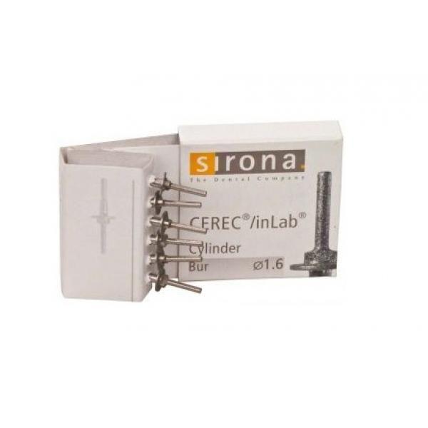 FRESA CEREC INLAB CILINDRICO 1 6mm LARGO CX 6 5466193 SIRONA -