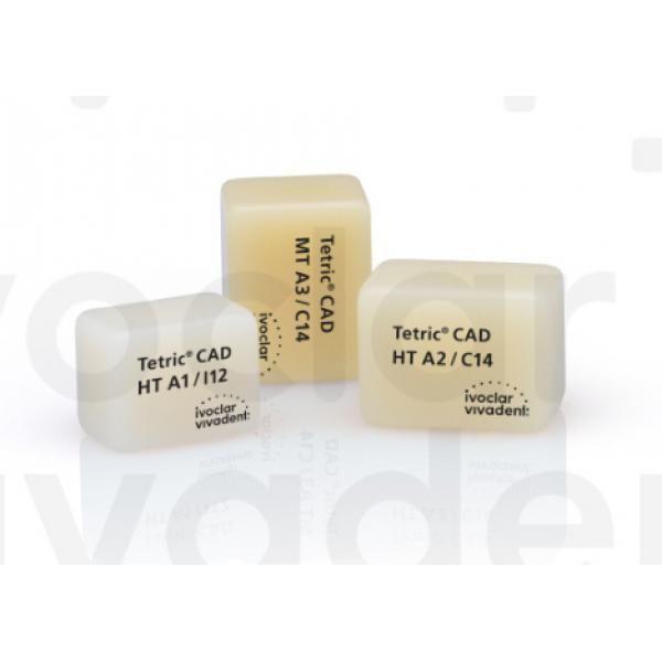 TETRIC CAD CEREC INLAB HT A1 I12 CX5 IVOCLAR -