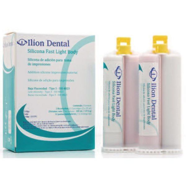 SILICONA ILION LIGHT BODY FAST2 X 25 ML 12 PUNTAS -